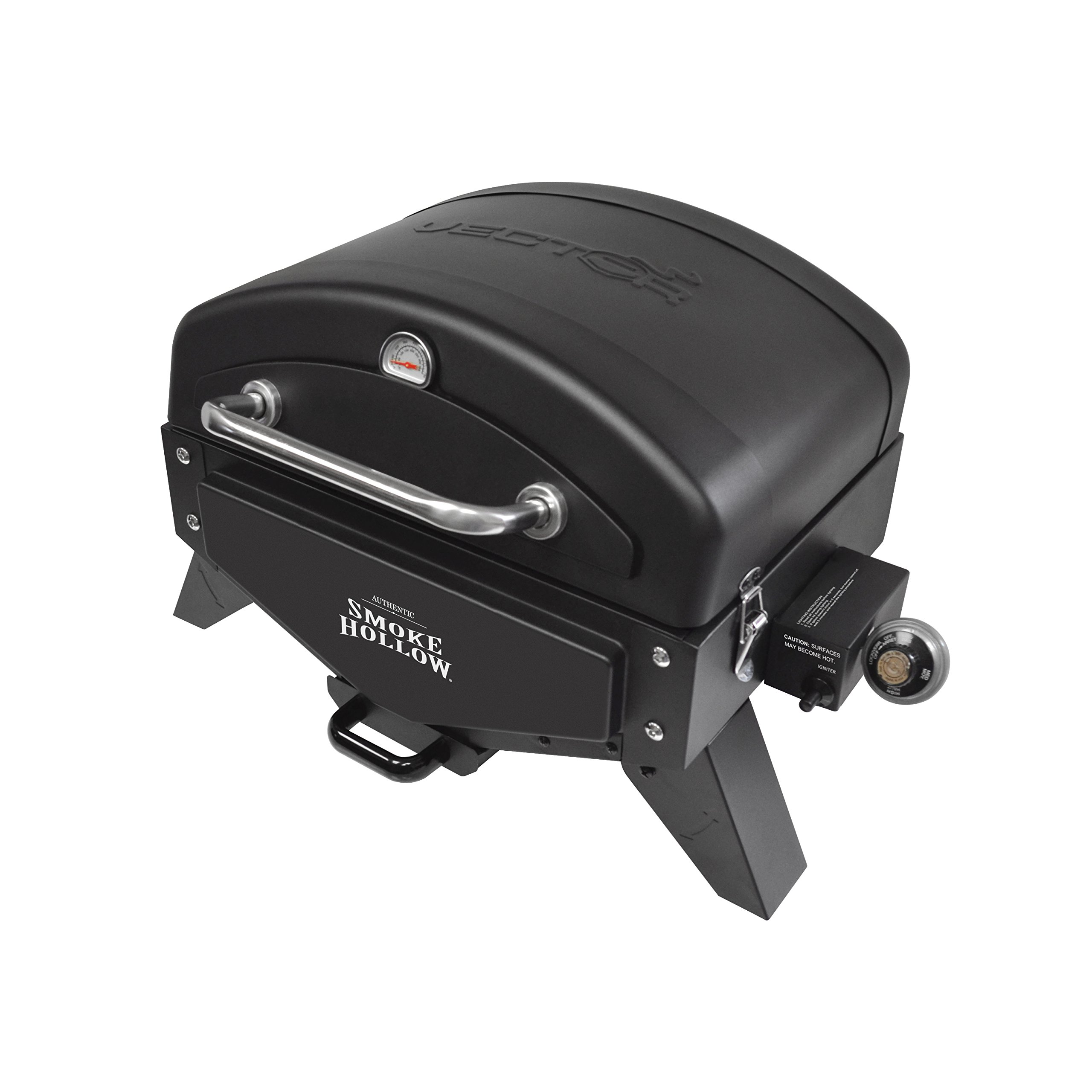 Smoke Hollow VT280B1 Vector Series, Portable Table Top Propane Gas Grill with Warming Rack, 367 sq. inches of Cooking Area, Dimensions: 25.25'' W x 19.5'' D x 16'' H