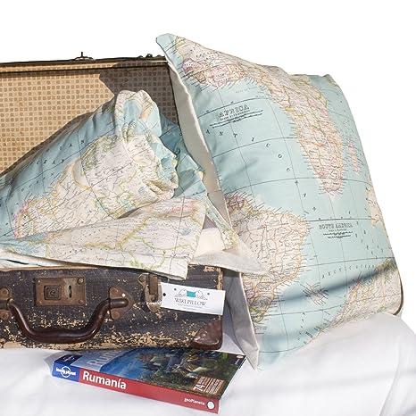 Conjunto manta y cojin mapa - manta mapa - cojin mapa ...
