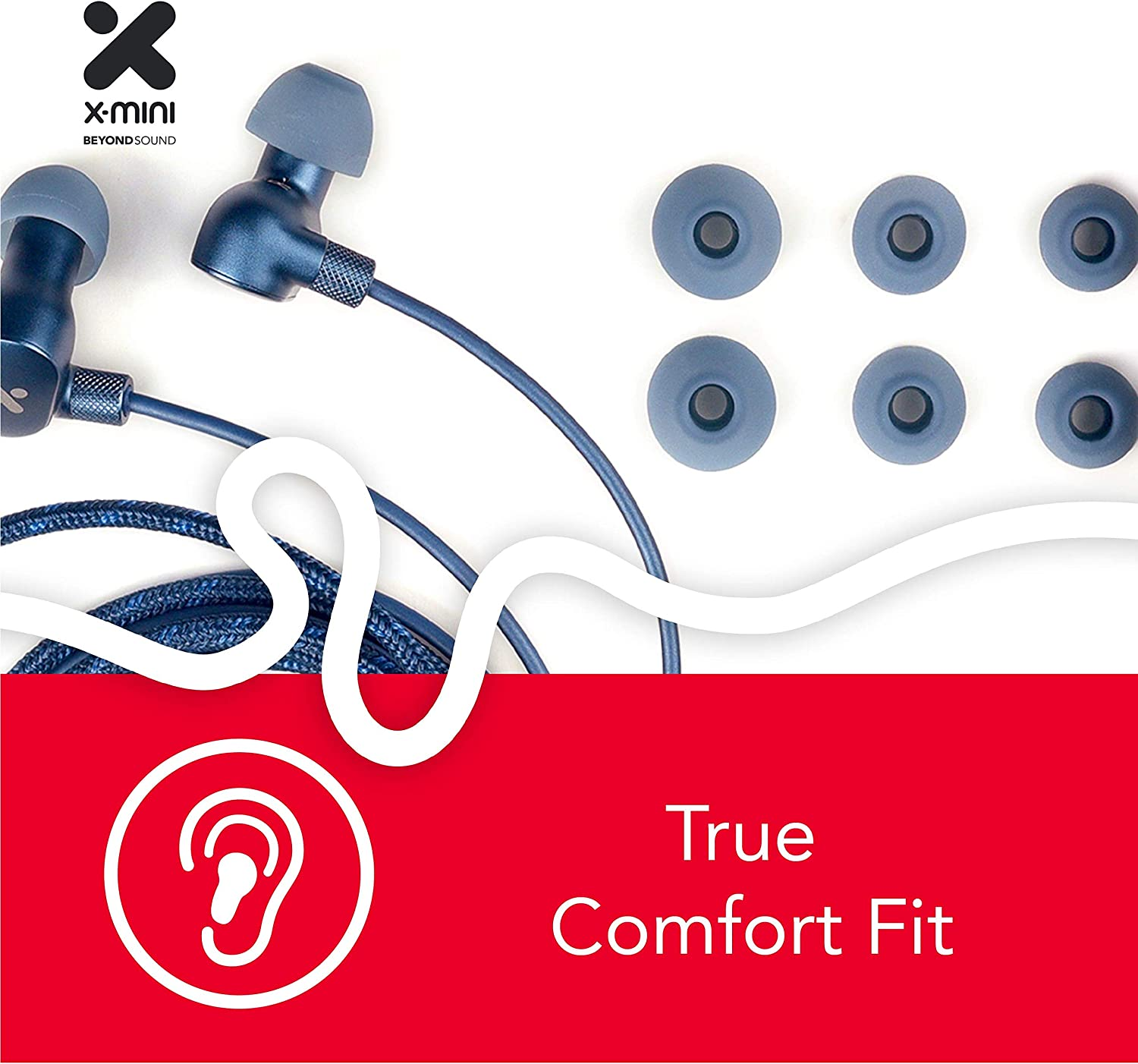 Musician Recording High Resolution and Earphones with Microphone Grey X-mini Xtlas Hi-Res HiFi High Performance in-Ear Earphone w Mic Dual Driver 1DD 1BA for Stage