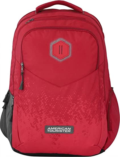 American Tourister Insta Plus 01 Backpack(Red)