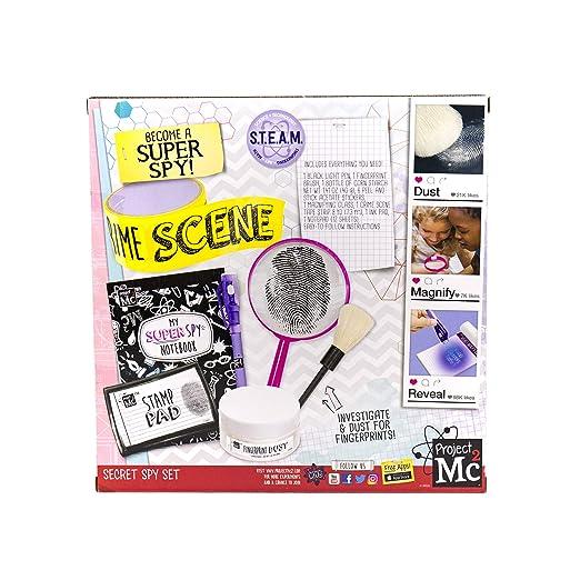 Project MC2 Pretend Play Super Spy Stem Science Kit by Horizon Group Usa, Includes Detective Finger Print Identification Set, Crime Scene Tape, ...