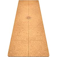 FrenzyBird 5 mm Cork Yoga Mat with Carrying Strap and Alignment Marks, Anti Slip and Easy to Clean, Provides Perfect…