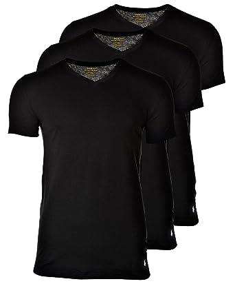 Polo Ralph Lauren 3 Pack Homme T-Shirts, Col V, Manches mi-Longues ... d0a42abd875c