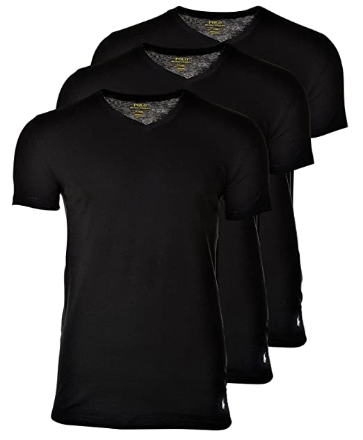 Polo Ralph Lauren 3 Pack Camisetas Hombre, Cuello V, Media Manga ...
