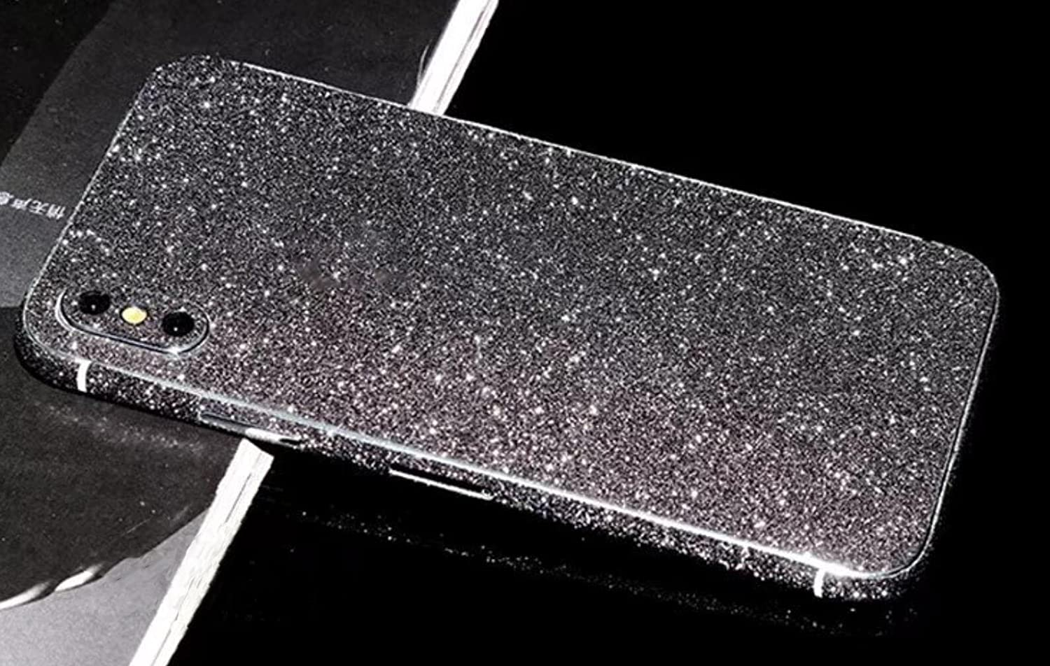 Omio for iPhone XS Max Glitter Skin Sticker Ultra Thin Sparkle Bling Diamond Full Body Wrap Covered Edges Precise Fit Dustproof Anti Fingerprint Scratch-Resistant Skin Decal for iPhone XS Max (3 Pack)