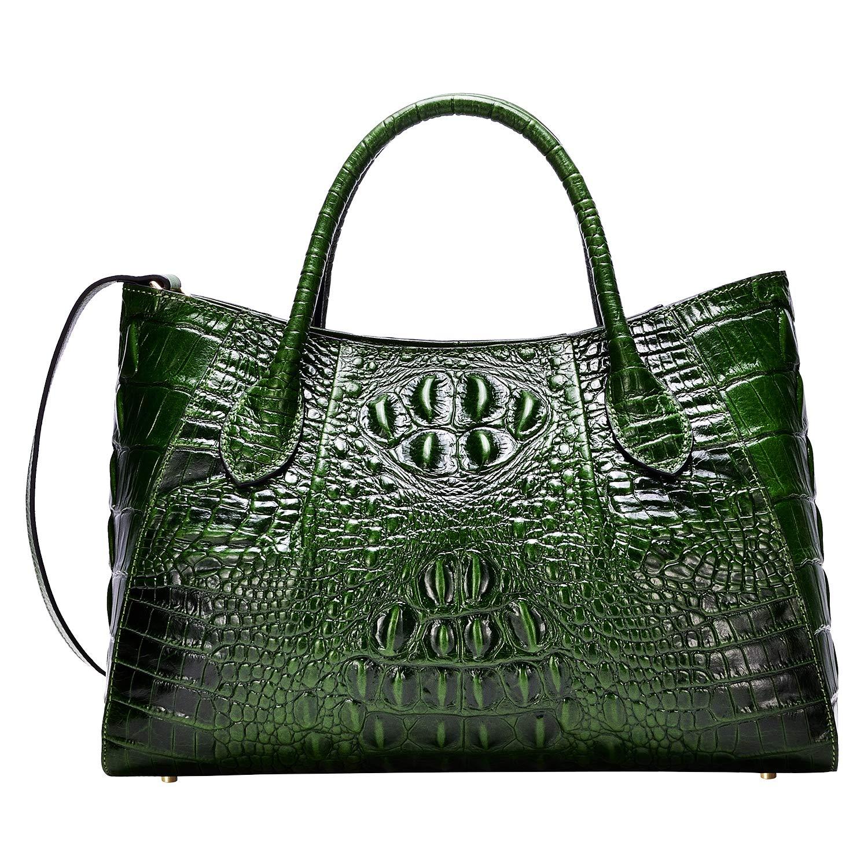 PIJUSHI Women Handbags Crocodile Top Handle Bag Designer Satchel Bags For Women (5002A, Green)