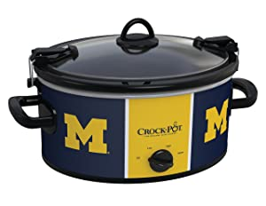 Crock-Pot Michigan Wolverines Collegiate 6-Quart Cook & Carry Slow Cooker