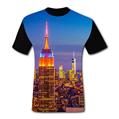 Empire State Building New York Custom Tee Shirt T-shirt Top for Men Adults S a0531a9352a