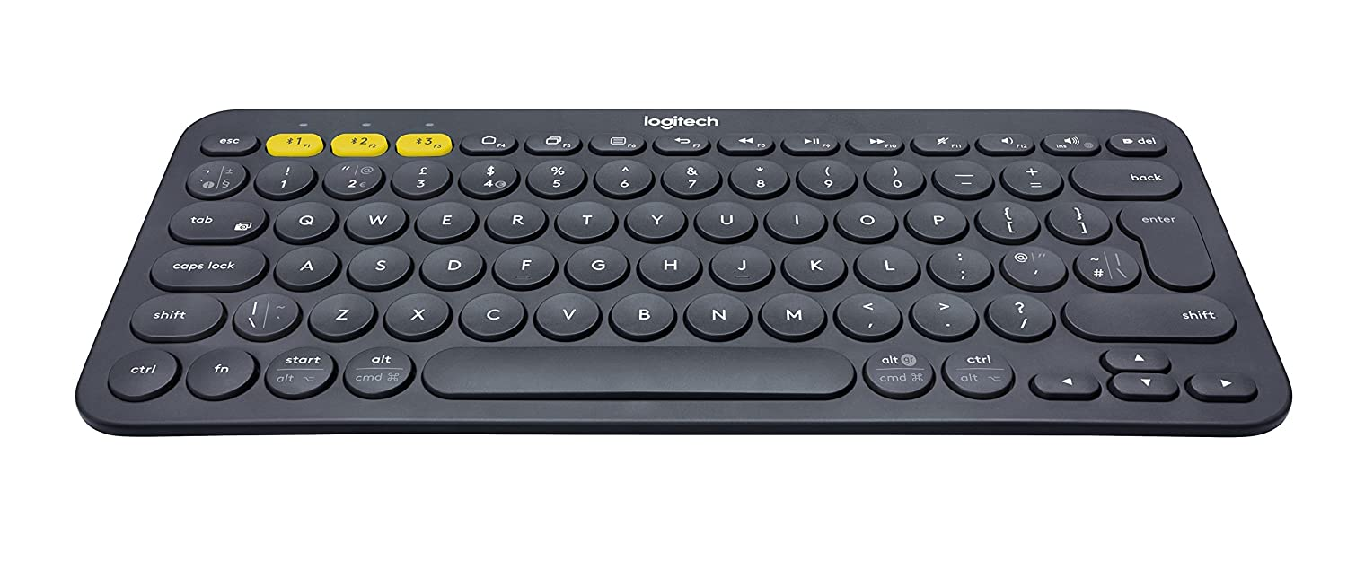 Logitech K380 Multi Device Bluetooth Keyboard For Windows, Mac, Chrome, Android, I Os And Apple Tv   Qwerty, Uk Layout, Black by Amazon
