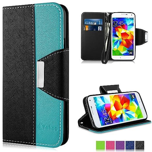 66 opinioni per Galaxy S5 Custodia- Vakoo Samsung Galaxy S5 Cover flip a portafoglio in pelle