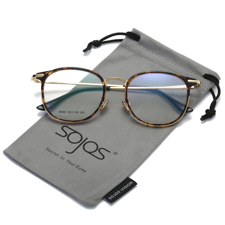 0e844974ec7c SOJOS Fashion Round Square Eyewear Optical Frame Clear Glasses Reading  Glasses for Women Men SJ5013 with Demi Frame/Clear Lenses: Amazon.co.uk:  Clothing