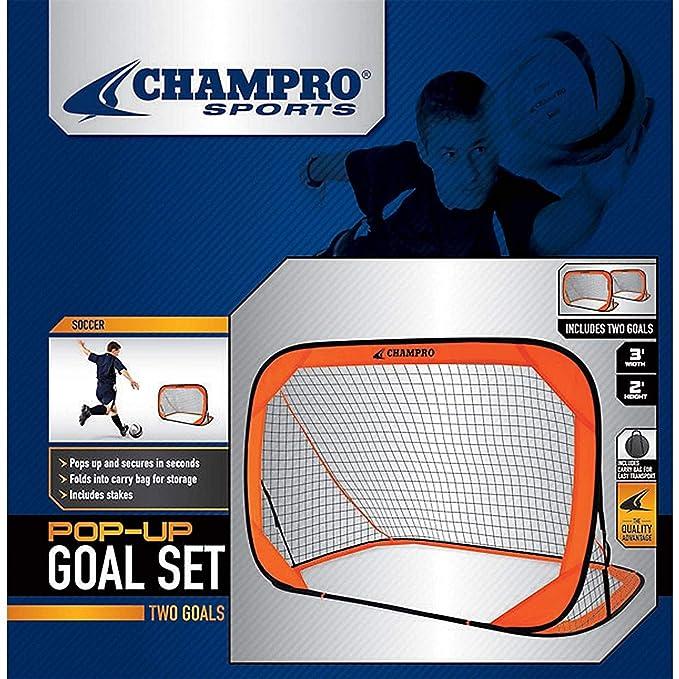 d7c8528a6 Amazon.com : Champro Pop Up Goal, Individual (Orange, 3 x 2-Feet) : Soccer  Equipment : Sports & Outdoors