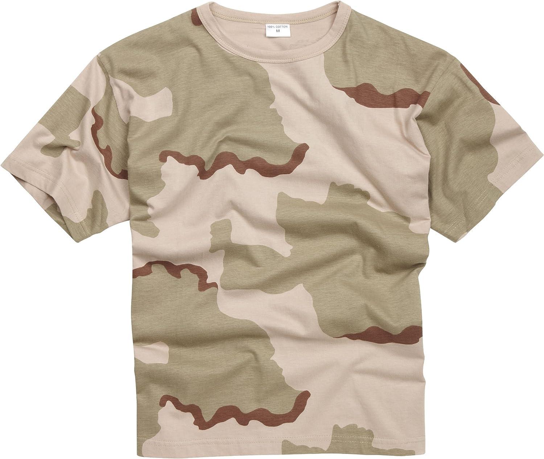 100% Algodón Estilo Militar Camiseta - Tri - Camuflaje Desierto: Amazon.es: Ropa y accesorios