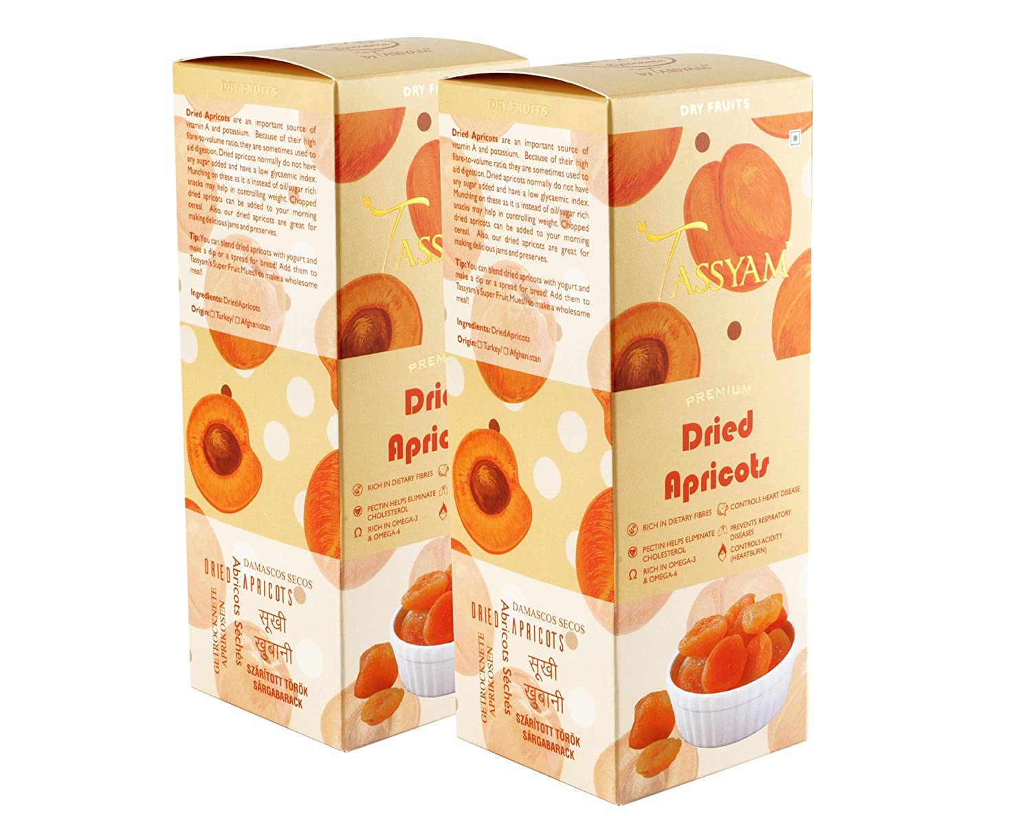 Tassyam Premium Dried Apricots 400g 2x 200g Turkish Khubani Healthy Dry Fruits Luxury Box Amazon In Grocery Gourmet Foods