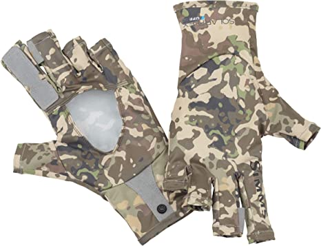 Simms SolarFlex UPF 50+ Fingerless Gloves, Hand Protection