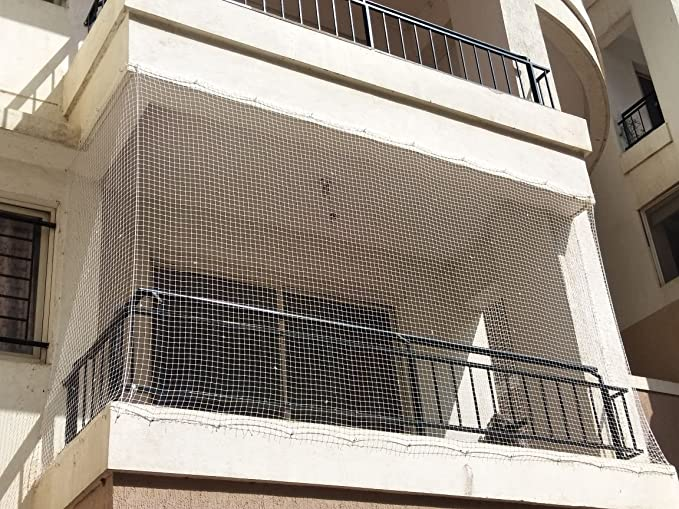 AMZ Anti Bird Net for Balcony (Protection net) (Pigeon)(Monkey) White