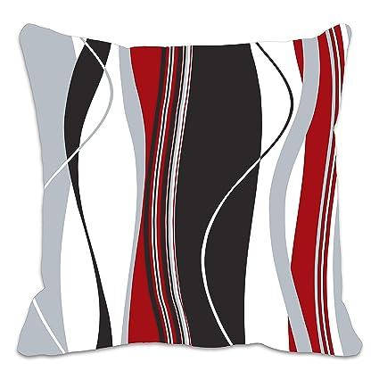 Copricuscino con strisce verticali ondulate; ideale per soggiorno ...