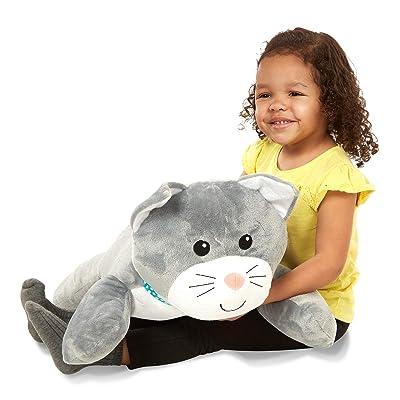 Melissa & Doug Cuddle Cat Jumbo Plush Stuffed Animal with Activity Card: Toys & Games [5Bkhe1005757]