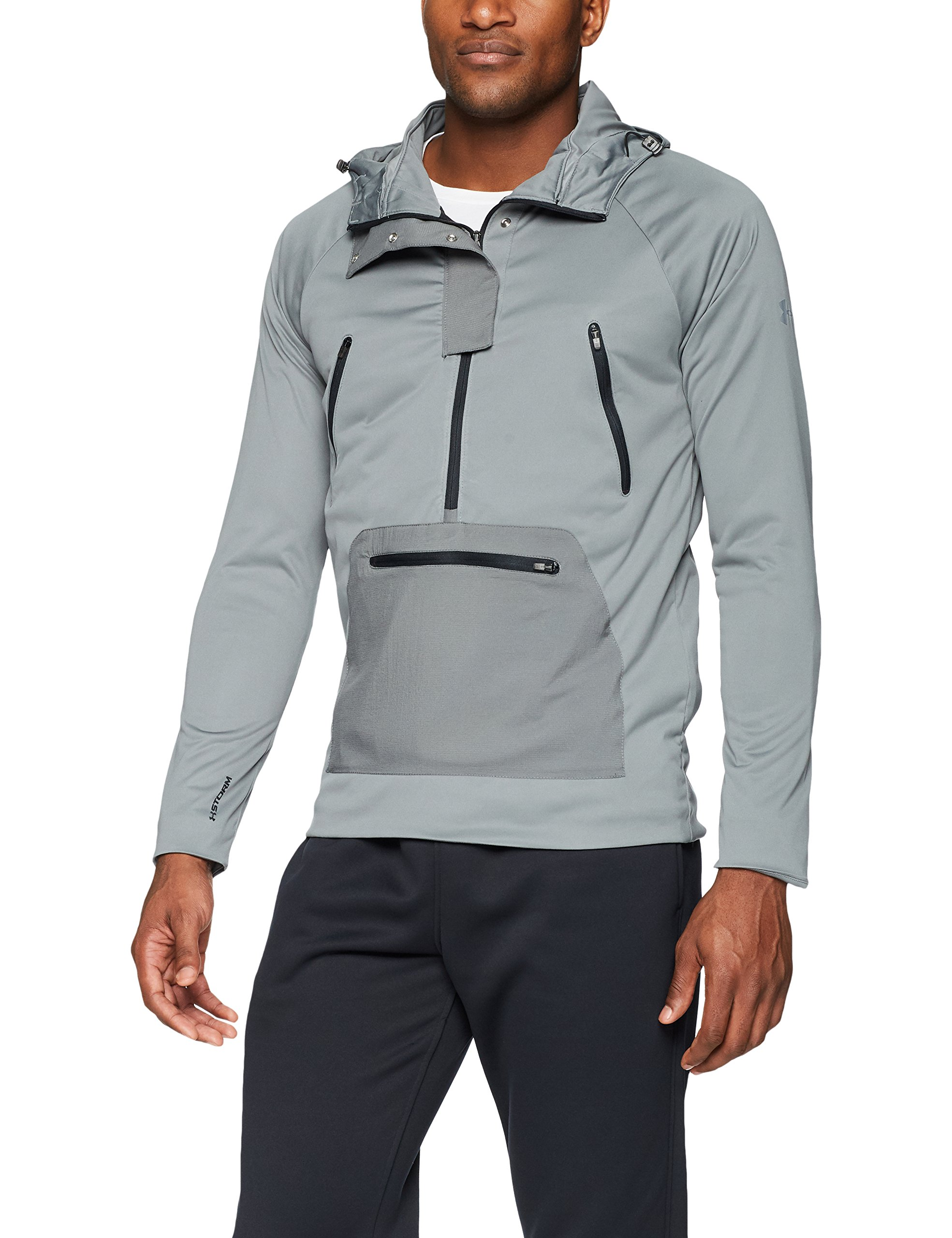 Under Armour Men's Storm Define The Anorak Jacket , Clay Green (709)/Reflective, Large by Under Armour (Image #1)