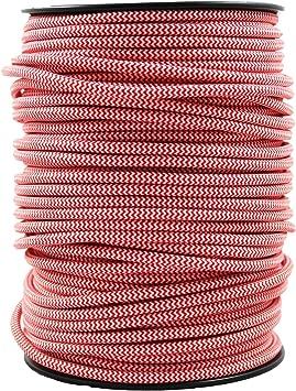 smartect Cable para l/ámparas de tela en color Cobre - Cable de luz con revestimiento textil Cable textil trenzado de 1 Metro 3 hilos 3 x 0,75 mm/²