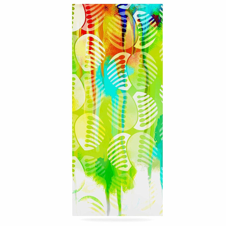 24 x 36 Kess InHouse Dan Sekanwagi Poddy Combs-Wet Paint Green Yellow Luxe Rectangle Panel