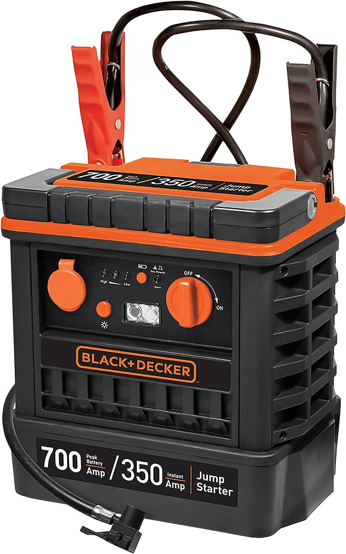 Black and Decker JS700TKCB Arrancador + Compresor 350A con Bolsa 12 V para Coche