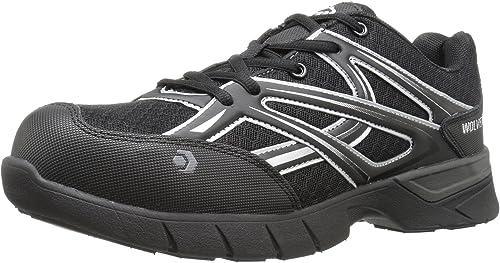 W Wolverine Men/'s Jetstream Slip Resistant Athletic-Composite Toe-Black Size 13
