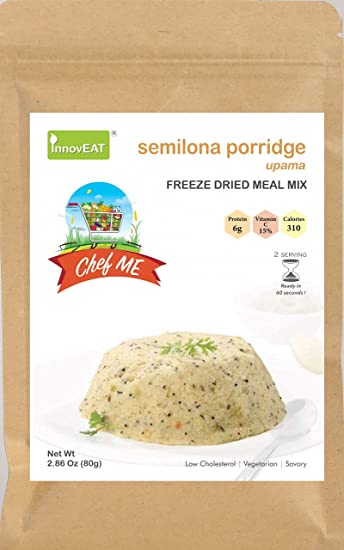 Amazon com: ChefMe Semolina Porridge - Upama - Freeze Dried