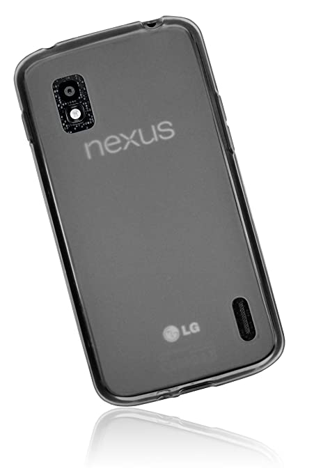 mumbi Silicone Case - Carcasa para Google Nexus 4, negro ...