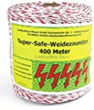 Weidezaunlitze Super-Safe 400m Weiß/Rot NEU