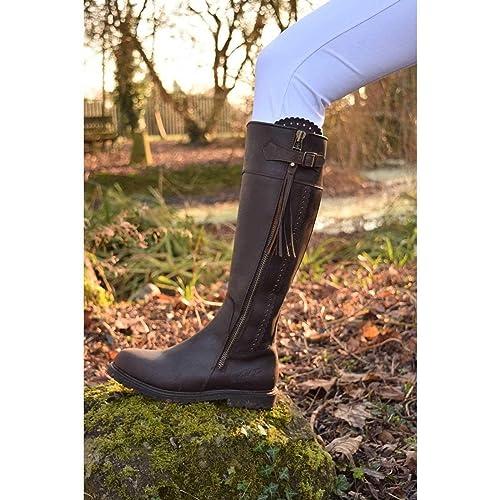 fe3cdb209fe Mark Todd Masterton Tall Womens Long Riding Boots UK 3 Cognac   Amazon.co.uk  Shoes   Bags