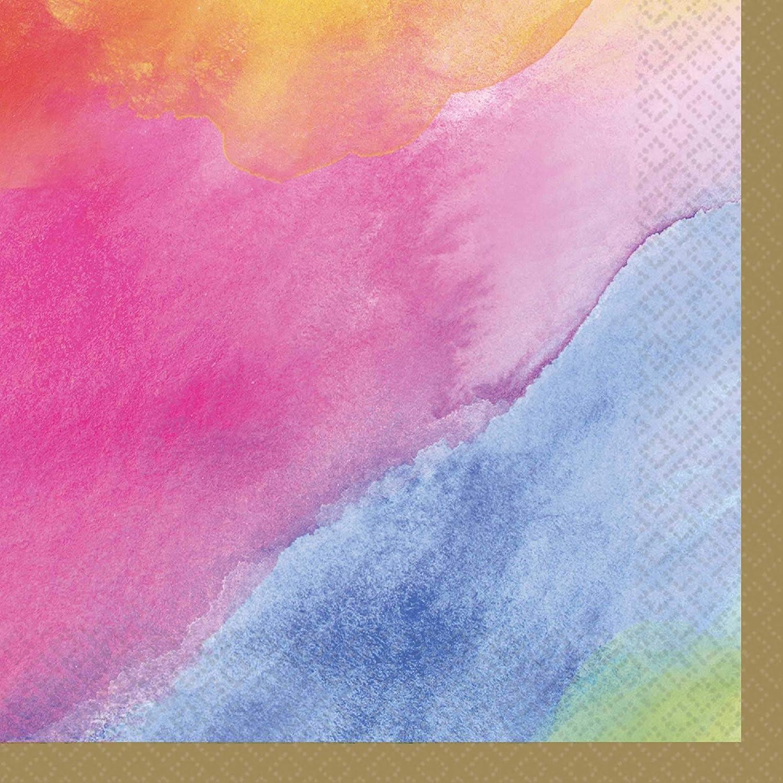 Rainbow Pastel Color Beverage Napkins-16pc