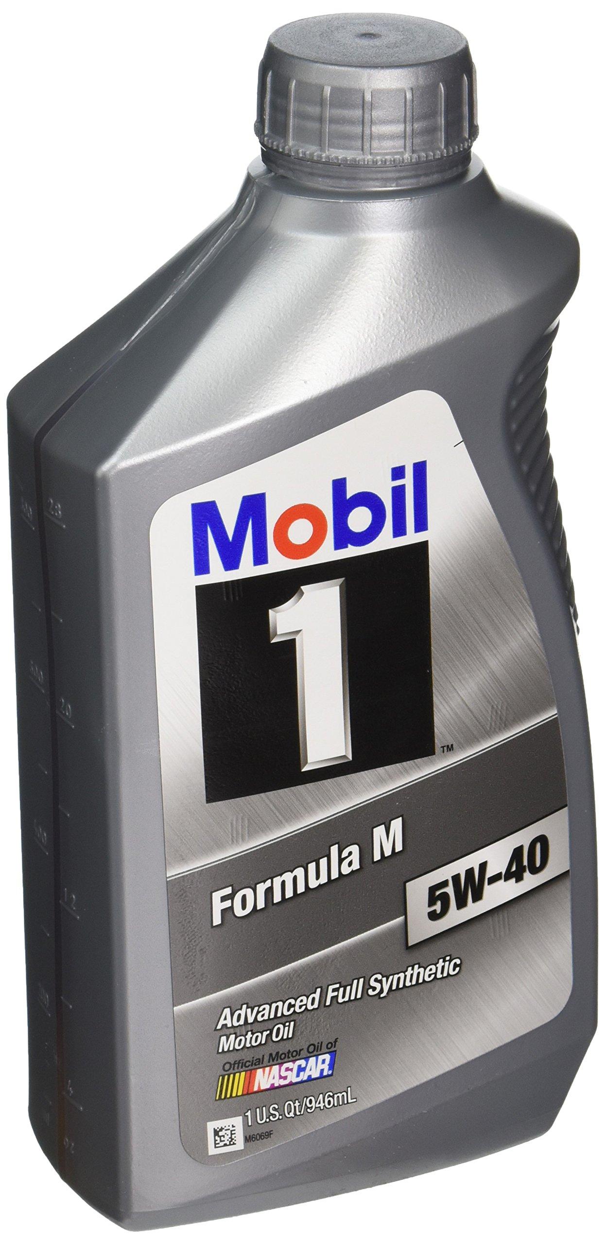Mobil 1 122094 5W-40 Formula M Motor Oil - 1 Quart Bottle 6 Pack