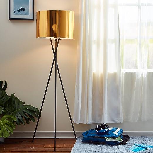 Versanora Vn L00001 Cara Tripod 3 Leg Floor Lamp Reading Light Gold