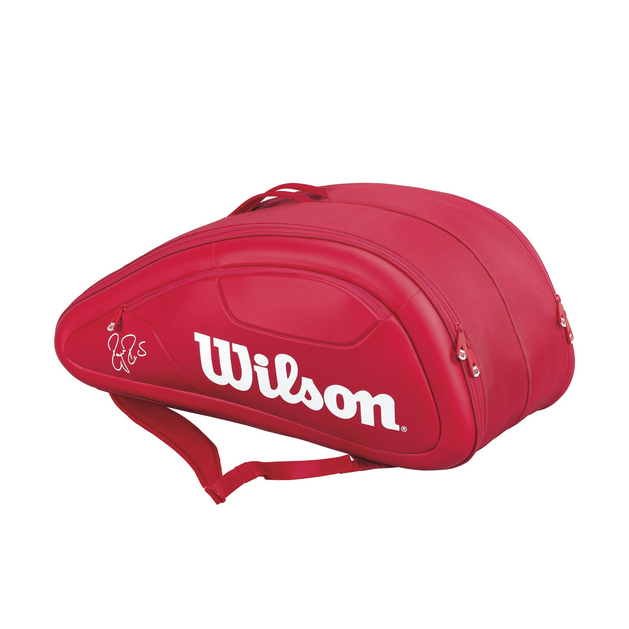 Wilson Federer DNA Collection Racket Bag (Holds up to 12), Red by Wilson (Image #1)