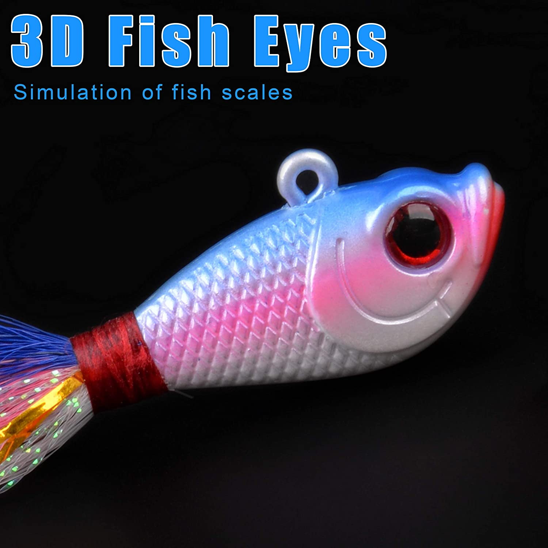 Toygogo Bucktail Jig Se/ñuelo Agua Salada Cebos De Agua Dulce Kit Surtido Bajo Striper Bluefish Surf Pesca