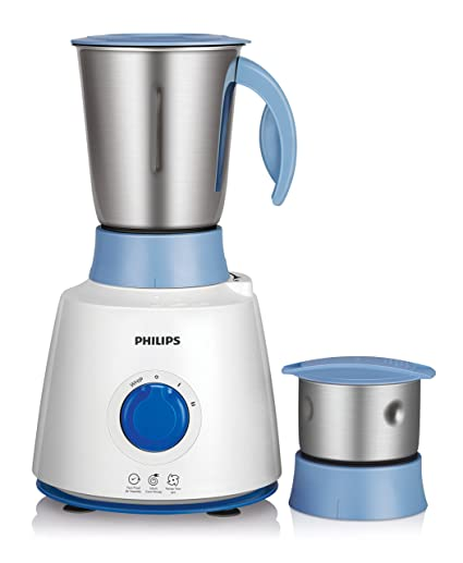 3aec896b7a1 Buy Philips Daily Collection HL7600 500-Watt Mixer Grinder with 2 Jar (White  Blue) Online at Low Prices in India - Amazon.in
