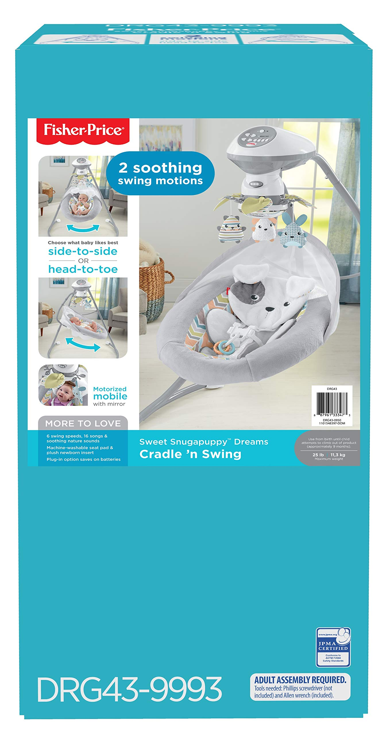 Fisher-Price Sweet Snugapuppy Dreams Cradle 'n Swing by Fisher-Price (Image #5)