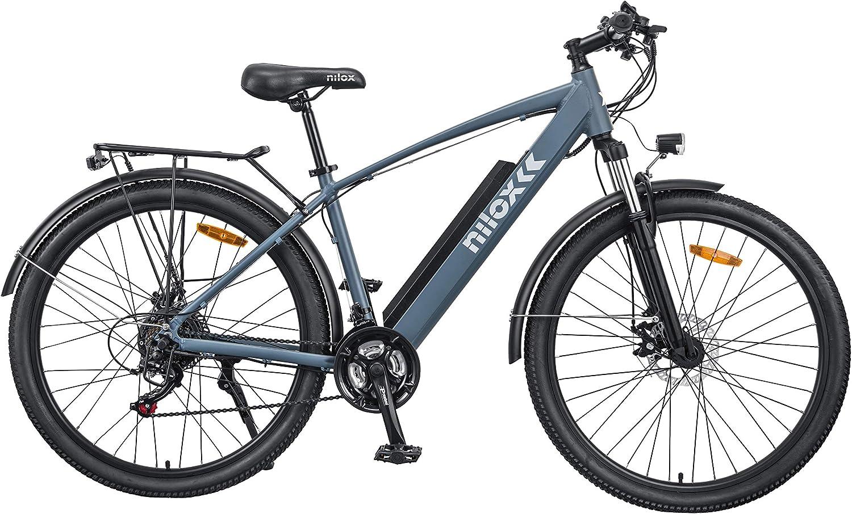 Nilox 30NXEB275V002V2 - Bicicleta eléctrica E Bike 36V 7.8AH 27.5X2.10P - X7, Motor 36 V 250 W, batería Recargable Samsung de Litio 36 V, Carga Completa 5 h, chasis Aluminio, Velocidad máxima 25 km/h