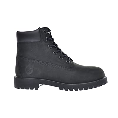 Timberland Big Kids 6 Inch Premium Waterproof Boots Black 12907 | Industrial & Construction Boots