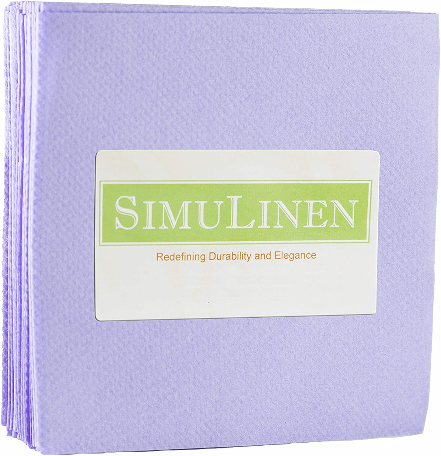 SimuLinen Colored Cocktail/Beverage Napkins - Lavender - Decorative, Absorbent, Cloth Like & Disposable - (Pack of 25)