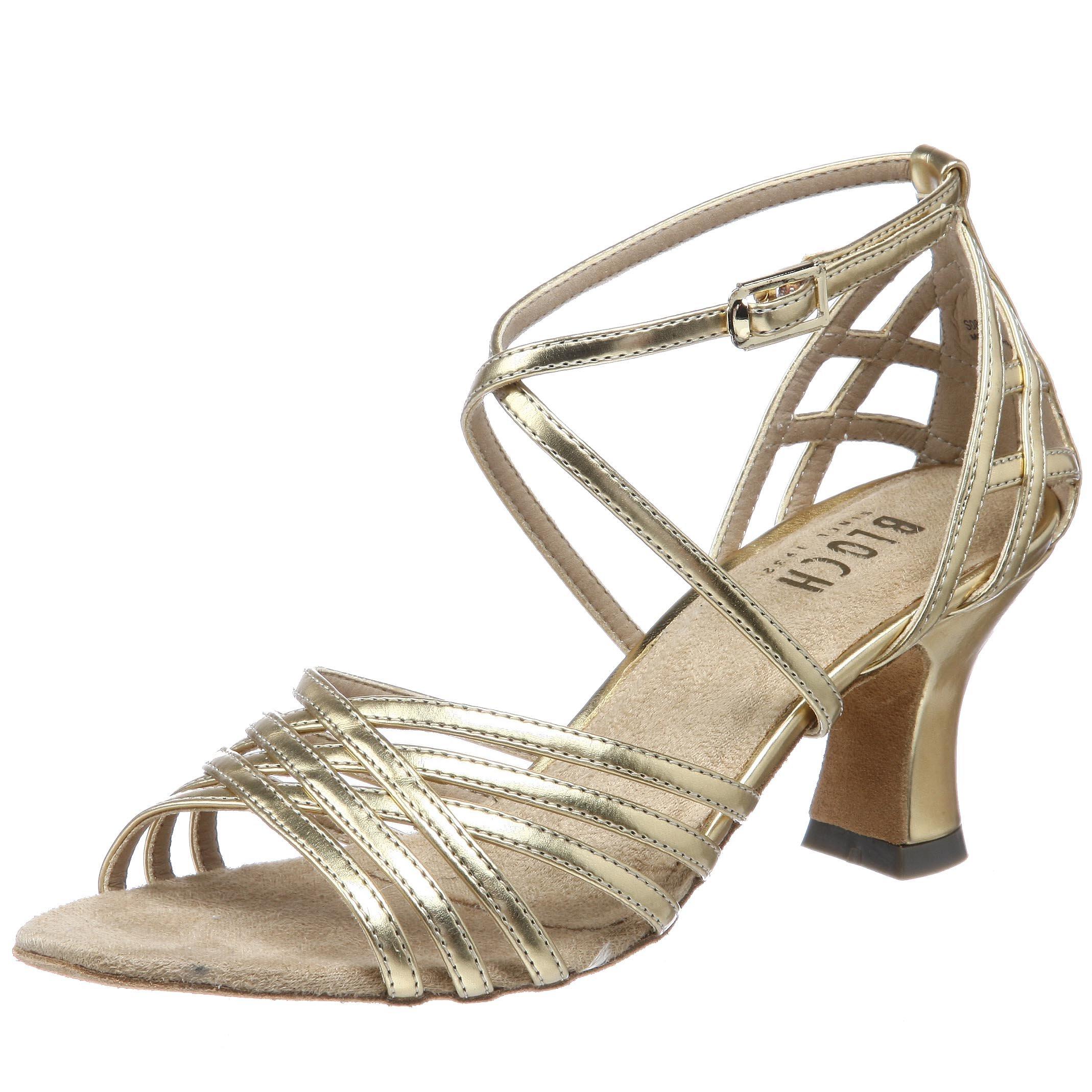 Bloch Dance Women's Yvette Ballroom Shoe,Gold,7.5 M US
