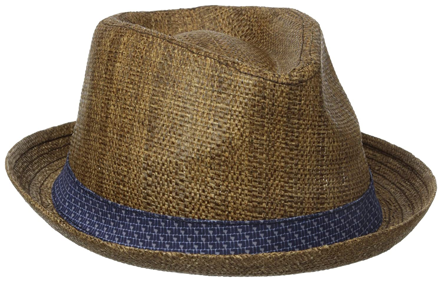 Ben Sherman Men's Straw Trilby W/Ptrn Band Brown Small/Medium Ben Sherman Headwear BS4801