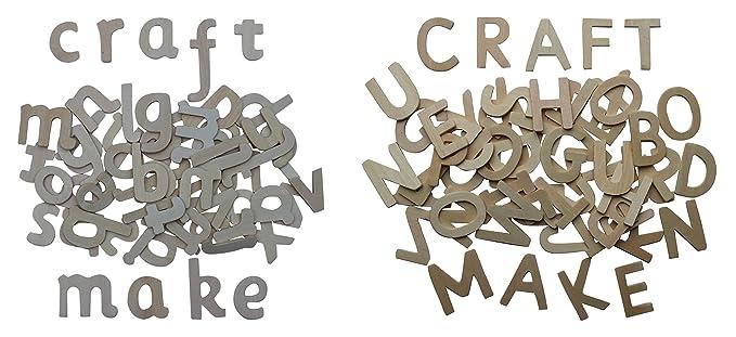 120 Holzbuchstaben, Großbuchstaben (60) , Kleinbuchstaben (60 ...