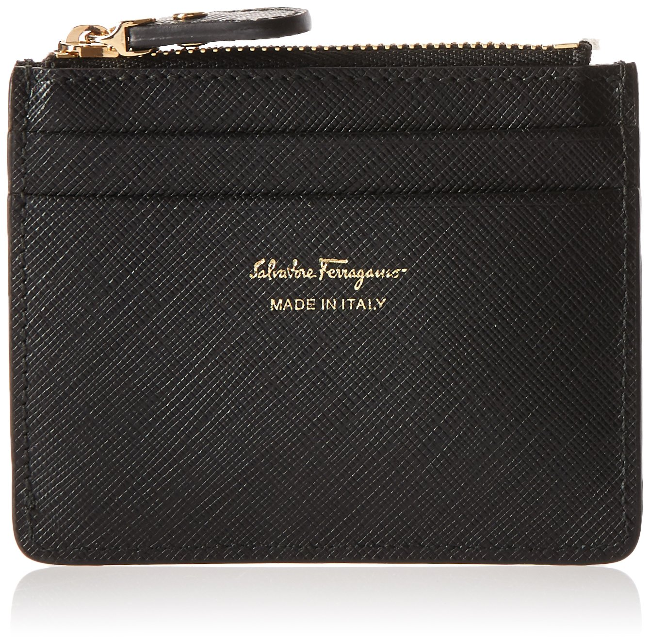 Salvatore Ferragamo Women's Gancio Card Holder 614520, Black, One Size