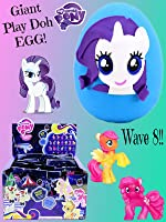 GIANT Rarity My Little Pony Play Doh Surprise Egg - My Little Pony Wave 8 Blind Bags Neon Collection