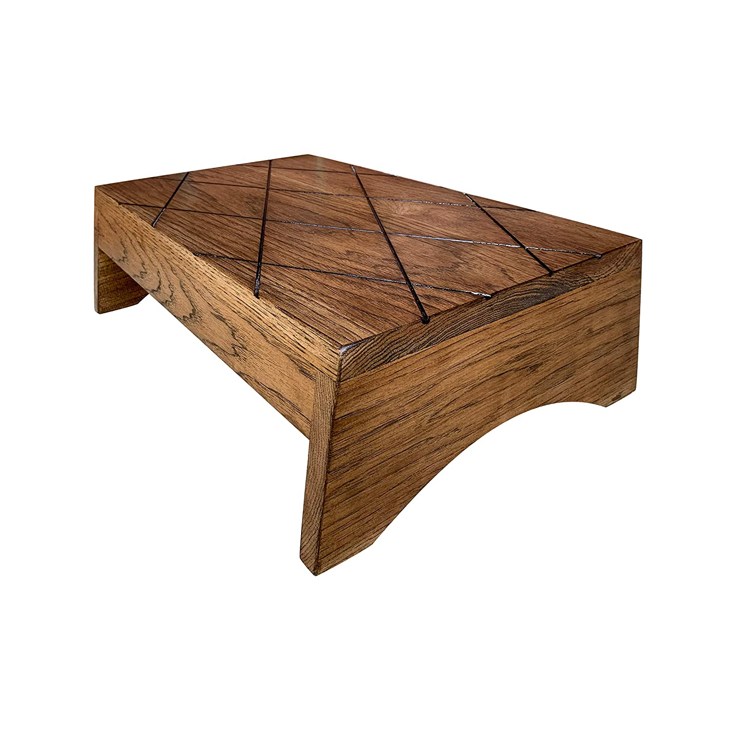 Marvelous Wood Step Stool Large By Cw Furniture Custom Choose Finish Handicapped Elderly Bed Solid Hardwood Kitchen Bathroom Personalized Engraved Foot Stool Machost Co Dining Chair Design Ideas Machostcouk