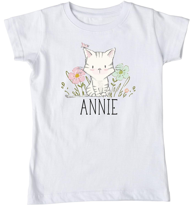 c52978c1b Girl's Kitten Shirt, Personalized Kitty Shirt, Summer Shirt, Kitten Shirt,  Name Kitten Shirt, Kitten Birthday, Kitten Birthday Shirt, Girls Cat Shirt,  ...