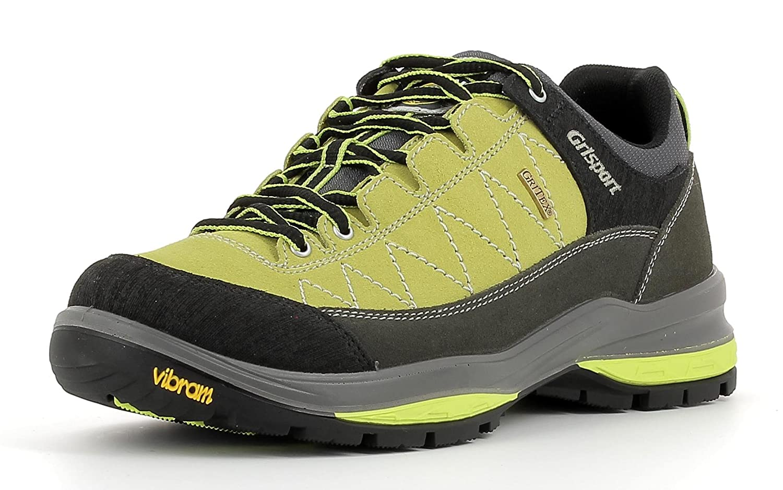 Grisport Unisex Schuhe Herren und Damen Terrain Niedrig Gritex Trekking- und Wander- Halbschuh aus hochwertigem Wildleder, Membrankonstruktion, Vibram-Sohle