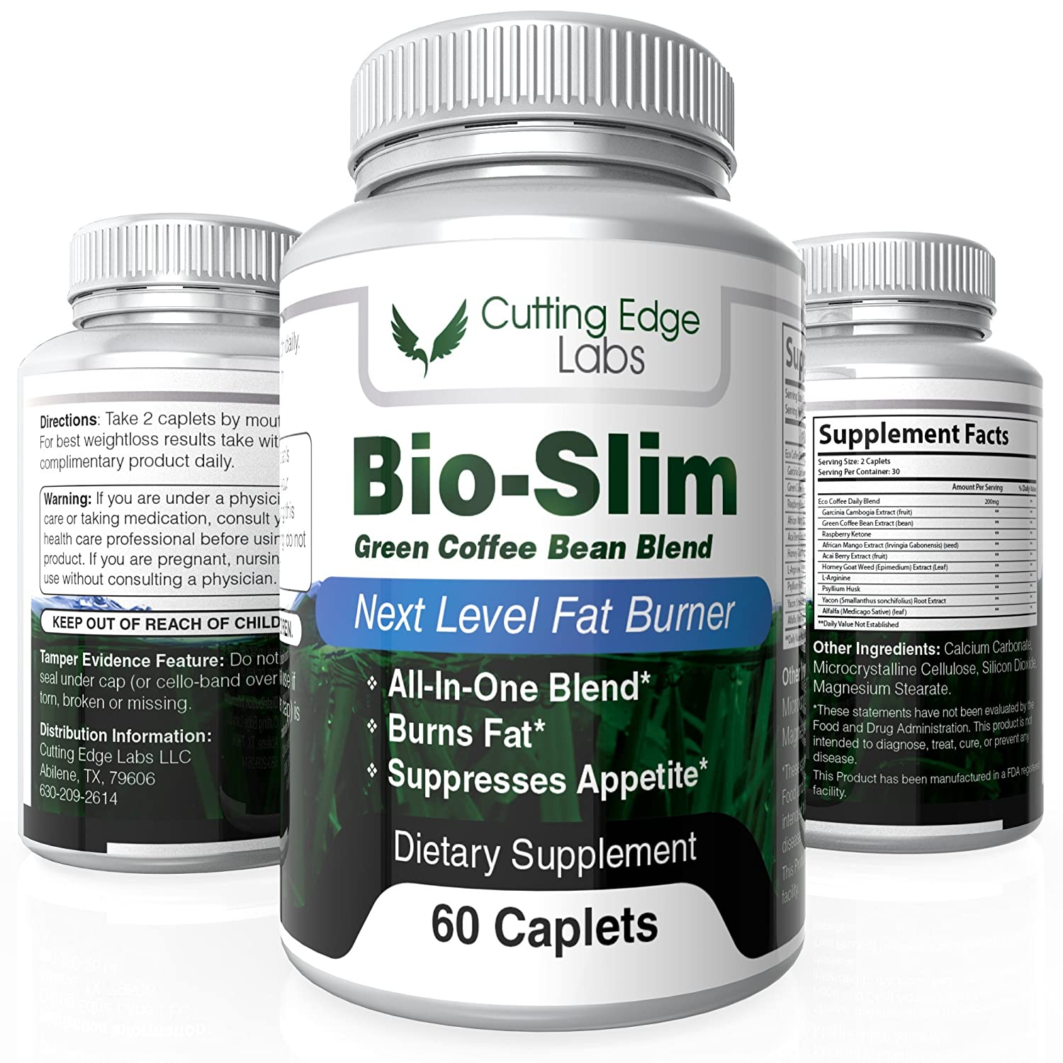 Bio-Slim Weight Loss Pills (60 Caplets) – Pure, Natural Appetite  Suppressant – Supports Healthy